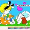 Kedi ve Kız Boyama