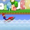 Mario jetski üstünde